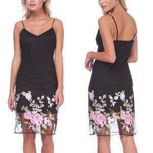 ABS COLLECTION FLORAL EMBROIDERED HEM DRESS
